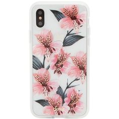 Women's Sonix Tiger Lily Iphone X Case (252315 PYG) ❤ liked on Polyvore featuring accessories, tech accessories, pink, apple iphone case, iphone cover case, pink iphone case, iphone cases and sonix iphone case
