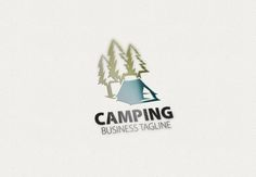 Camping Logo by eSSeGraphic on Creative Market