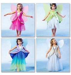 Girls Fairy Costumes Pattern, Childs Fairy Costume Pattern, Sz 6 to 8,  McCalls 4887 sewing pattern