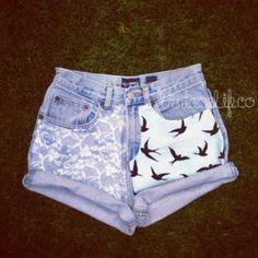 #swallow #shorts #jeans #wantit