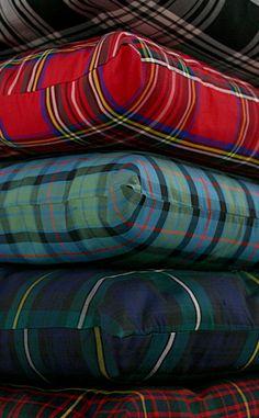 Tartan Silk Cushions