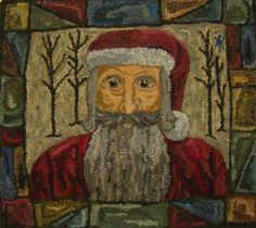 Hooked Rug ... Santa