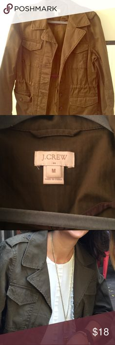 "J Crew factory military green utility jacket J Crew factory military jacket. Great condition. Fits loose, 130 lbs 5'10"" J. Crew Jackets & Coats Utility Jackets"
