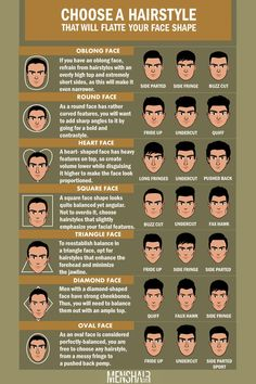 Face Shapes Guide For Men: How To Determine Yours And Style Accordingly ★ Face Shape Hairstyles Men, Oblong Face Hairstyles, Haircut For Face Shape, Mens Hairstyles With Beard, Hair And Beard Styles, Male Hairstyles, Hairstyle Men, Wedding Hairstyles, Funky Hairstyles