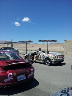 Oh Canada getting ready for some practice laps at the track in Reno
