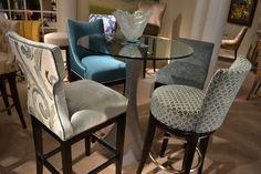 Designmaster Dining Stools in hues of Turquoise #hpmkt Designmaster Furniture