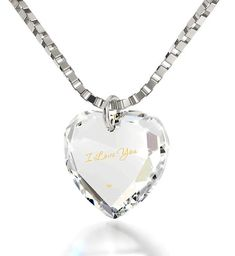 online shopping for Tiny Heart Pendant Necklace Gold Inscribed I Love You Crystal, 18 Chain - NanoStyle Jewelry from top store. See new offer for Tiny Heart Pendant Necklace Gold Inscribed I Love You Crystal, 18 Chain - NanoStyle Jewelry 14k Gold Necklace, Gold Plated Necklace, Heart Pendant Necklace, Sterling Silver Necklaces, Silver Jewelry, Unique Jewelry, Infinity Necklace, Infinity Symbol, Heart Jewelry