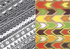 African patterns.