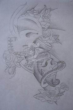 half sleeve design b w by hopefulsoul on DeviantArt