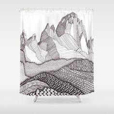 Patterns on Patagonia Shower Curtain