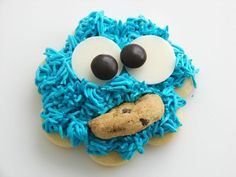 There are tons of Cookie Monster Party Ideas to help you have a memorable DIY Cookie Monster birthday party to delight the guest of honor and the attendees! Cut Out Cookie Recipe, Best Sugar Cookie Recipe, Best Sugar Cookies, Cookie Recipes, Cut Recipe, Dessert Recipes, Cookie Frosting, Buttercream Frosting, Blue Frosting