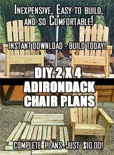 DIY Adirondack Chair Plans – Simple Plans for a Comfortable, Beautiful and Inexpensive Patio, Backyard, or Fire Pit Chair - diy furniture plans Diy Outdoor Furniture, Outdoor Garden Furniture, Rustic Furniture, Diy Furniture, Furniture Projects, Antique Furniture, Modern Furniture, Furniture Chairs, Furniture Websites