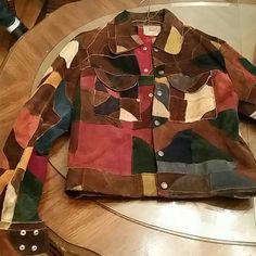 Vintage 70s suede patchwork jacket Used Jackets & Coats