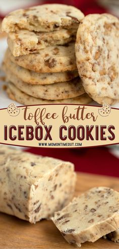 Cookie Desserts, Just Desserts, Cookie Recipes, Delicious Desserts, Dessert Recipes, Yummy Food, Icebox Cookies, Toffee Cookies, Cookie Bars