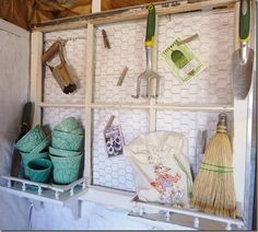 repurposing shutters | Upcycling ~ Windows & Shutters! / love this repurposed window in the ...