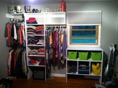 A wall closet my boyfriend built me! Now there's room for all my stuff