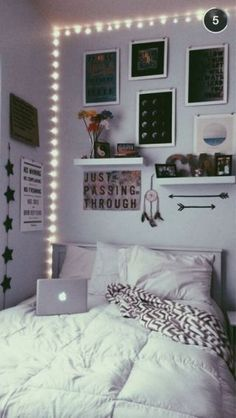 Basically frame the corners of your bedroom with fairy lights
