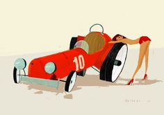 chicks & wheels | Illustrator: Simone Massoni