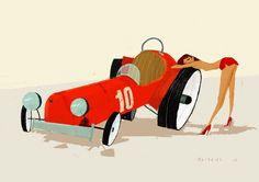 chicks & wheels | Illustrator: Simone Massoni