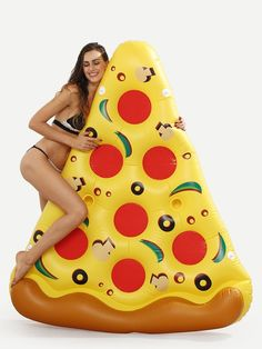 Shein Pizza Slice Pool Float- Yellow