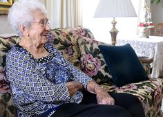 Lucy Ellis talks about her experiences living in Cache Valley for 100 years at her home in Logan, Utah. (Photo by Eli Lucero)