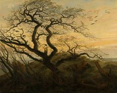 Caspar David Friedrich Larbre aux oiseaux 1822