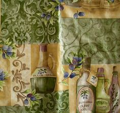 52X52-Square-pictorial-Olives-vinyl-flannel-backed-tablecloth-multi-color-Elrene