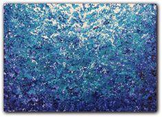 Original Abstract Art, Modern Art Oil Painting, Abstract Painting, Deep Blue Sea Pointillist Painting, Contemporary Impressionist Art, 5 x 7. $25.95, via Etsy.