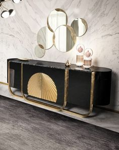 Limited Edition Sideboard Designs by Boca do Lobo Luxury Dining Room, Dining Room Design, Luxury Living, Unique Furniture, Luxury Furniture, Furniture Design, Entryway Console Table, Console Tables, Console Shelf