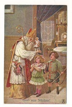 Santa Father Christmas St. Nicholas Postcard