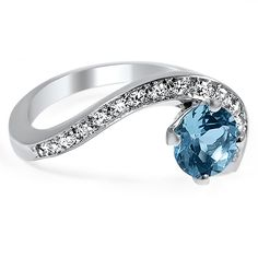 The Lunette Ring, top view