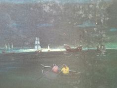 Pintura  de  marinha  com  envelhecimento