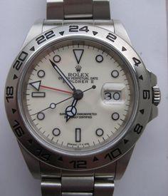 Nice Rolex Explorer II ref 16550 with beautiful creamy dial