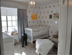 white + grey nurseries - so cute