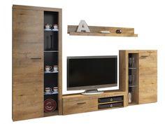 Σύνθετο σαλονιού Yosemite   Polihome.gr Flat Screen, Led, Modern, Furniture, Living, Design, Home Decor, Products, Glass Display Case
