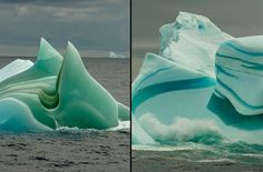 Mesmerizing Striped Icebergs: Ageless beauties of the Frozen World