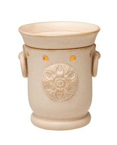 CLAREMONT - Full-Size Warmer - Elegant simplicity at it's finest, featuring a stamped flourish on an understated sandstone finish