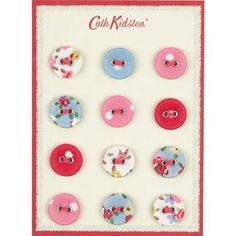 Cath Kidston Assorted Button Card is so adorable that you can absolutely use it as a piece of decor. $8.00