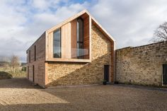 Richard Pender and Dan Kerr combine local materials at self-built house Modern Architecture Design, Residential Architecture, Modern Barn, House In The Woods, Exterior Design, Future House, Building A House, House Design, Northumberland England