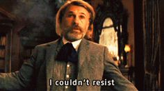 Christoph Waltz on Django Unchained. Django Unchained, Christoph Waltz, Books To Buy, I Love Books, Funny Images, Best Funny Pictures, Funny Pics, Death Proof, Dilema
