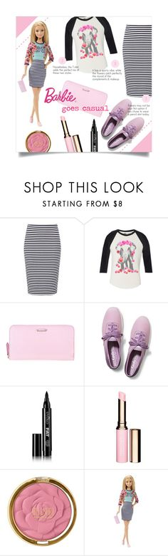 """""""Barbie goes casual"""" by sara-86 ❤ liked on Polyvore featuring Fendi, Keds, Eyeko, Clarins and Milani"""
