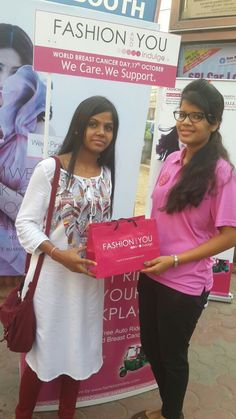 Goodie Bags cum Awareness Kits distributed to the commuters,  #fashionandyou, #breastcancer