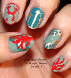 The Hunger Games District 4 Nails