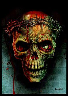 ☆ Thorns SkullL -::- Artist Marcus Jones ☆
