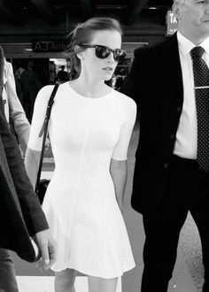emma watson black and white style. simple.