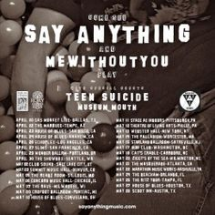 TICKETS ON SALE this week for Say Anything w/ mewithoutYou, Teen Suicide, Museum Mouth at Marathon Music Works on May 22! #Music #Nashville