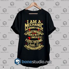 Mechanic Style Crazy Fantasy T Shirt Get This @ https://www.bonestudio.net/product-category/quote-tshirts/