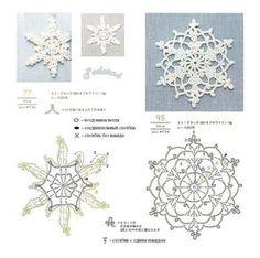 """Photo from album """"Снежинки"""" on Yandex. Crochet Snowflake Pattern, Crochet Stars, Christmas Crochet Patterns, Crochet Snowflakes, Crochet Mandala, Thread Crochet, Crochet Motif, Crochet Doilies, Crochet Flowers"""