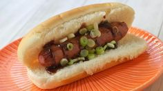 Blogger Cheri Liefeld of Adventures in the Kitchen gives hot dogs an Asian twist with a flavorful hoisin barbecue sauce.