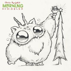 Finishing Touch! #morningscribbles #christmas2015 ❄️